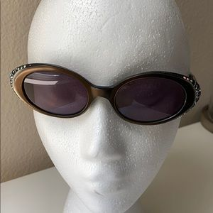 Accessories - Vintage Sunglasses w AB Crystals & Etching Details
